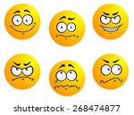 different smiles expressions... | Shutterstock . vector #268474877