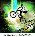 bmx rider. vector design. | Shutterstock .eps vector #268478333