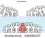 human resource vector concept.... | Shutterstock .eps vector #268484237