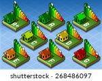 isometric set energy... | Shutterstock .eps vector #268486097