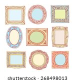 set of old picture frames ... | Shutterstock .eps vector #268498013