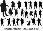 black silhouette of man with... | Shutterstock .eps vector #268505543