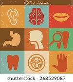 medical and healthy icon set on ... | Shutterstock .eps vector #268529087
