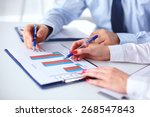 group of business people... | Shutterstock . vector #268547843