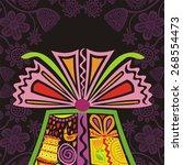 happy birthday greeting card... | Shutterstock . vector #268554473