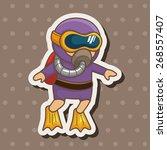 diver theme elements   Shutterstock .eps vector #268557407