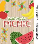 picnic party | Shutterstock .eps vector #268564163