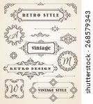 set of retro vintage badges ... | Shutterstock .eps vector #268579343