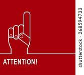 attention sign icon. hazard... | Shutterstock .eps vector #268594733