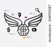marketing infographic | Shutterstock .eps vector #268595087