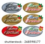 christmas badge. christmas... | Shutterstock . vector #268598177