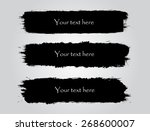 black grunge banners.abstract... | Shutterstock .eps vector #268600007