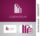building logo template icon... | Shutterstock .eps vector #268606937