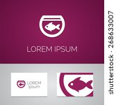 fish  aquarium logo template... | Shutterstock .eps vector #268633007