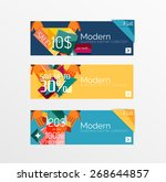 set of banners with stickers ...   Shutterstock .eps vector #268644857