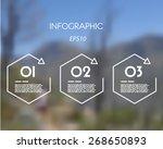 white linear infographic... | Shutterstock .eps vector #268650893