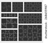 vector puzzle set with 4  6  12 ... | Shutterstock .eps vector #268655987