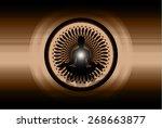 man meditation on brown circle...