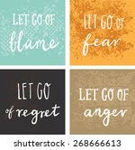 inspirational and encouraging... | Shutterstock .eps vector #268666613