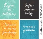 encouraging and inspirational... | Shutterstock .eps vector #268666667