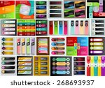 colorful modern text box... | Shutterstock .eps vector #268693937