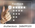 business hand clicking feedback ... | Shutterstock . vector #268699103