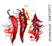 Watercolor Chili Pepper