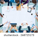 meeting brainstorming teamwork... | Shutterstock . vector #268725173
