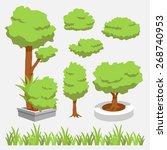 cartoon tree | Shutterstock .eps vector #268740953