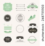 collection of labels and vector ... | Shutterstock .eps vector #268755503
