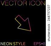 web arrow symbol | Shutterstock .eps vector #268757237