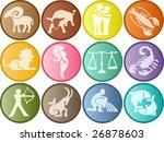 zodiac signs buttons | Shutterstock . vector #26878603