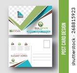 real estate postcard design... | Shutterstock .eps vector #268815923