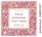 greeting card with flowers... | Shutterstock .eps vector #268822427