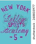 new york college academy vector ... | Shutterstock .eps vector #268833977