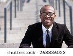 portrait of sitting employee... | Shutterstock . vector #268836023