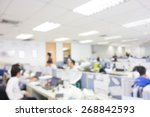blurred office background.... | Shutterstock . vector #268842593