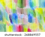 abstract colorful painted... | Shutterstock .eps vector #268869557