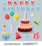 set of birthday elements | Shutterstock .eps vector #268885577