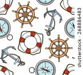 vector pattern with anchors ...   Shutterstock .eps vector #268886483