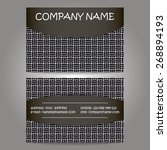 stylish business card template | Shutterstock .eps vector #268894193