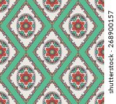seamless pattern with circle... | Shutterstock .eps vector #268900157