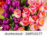Bouquet Of Multicolor Tulips