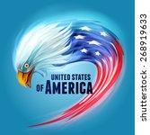 usa eagle flag | Shutterstock .eps vector #268919633