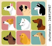 Vector Set Of Different Dogs...