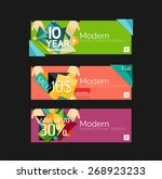 set of banners with stickers ... | Shutterstock .eps vector #268923233
