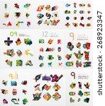 vector set of paper graphics.... | Shutterstock .eps vector #268923347
