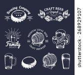 old brewery logos set. kraft...   Shutterstock .eps vector #268929107