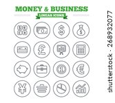 money and business linear icons ... | Shutterstock .eps vector #268932077