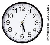 Wall Clock Isolated On A White...